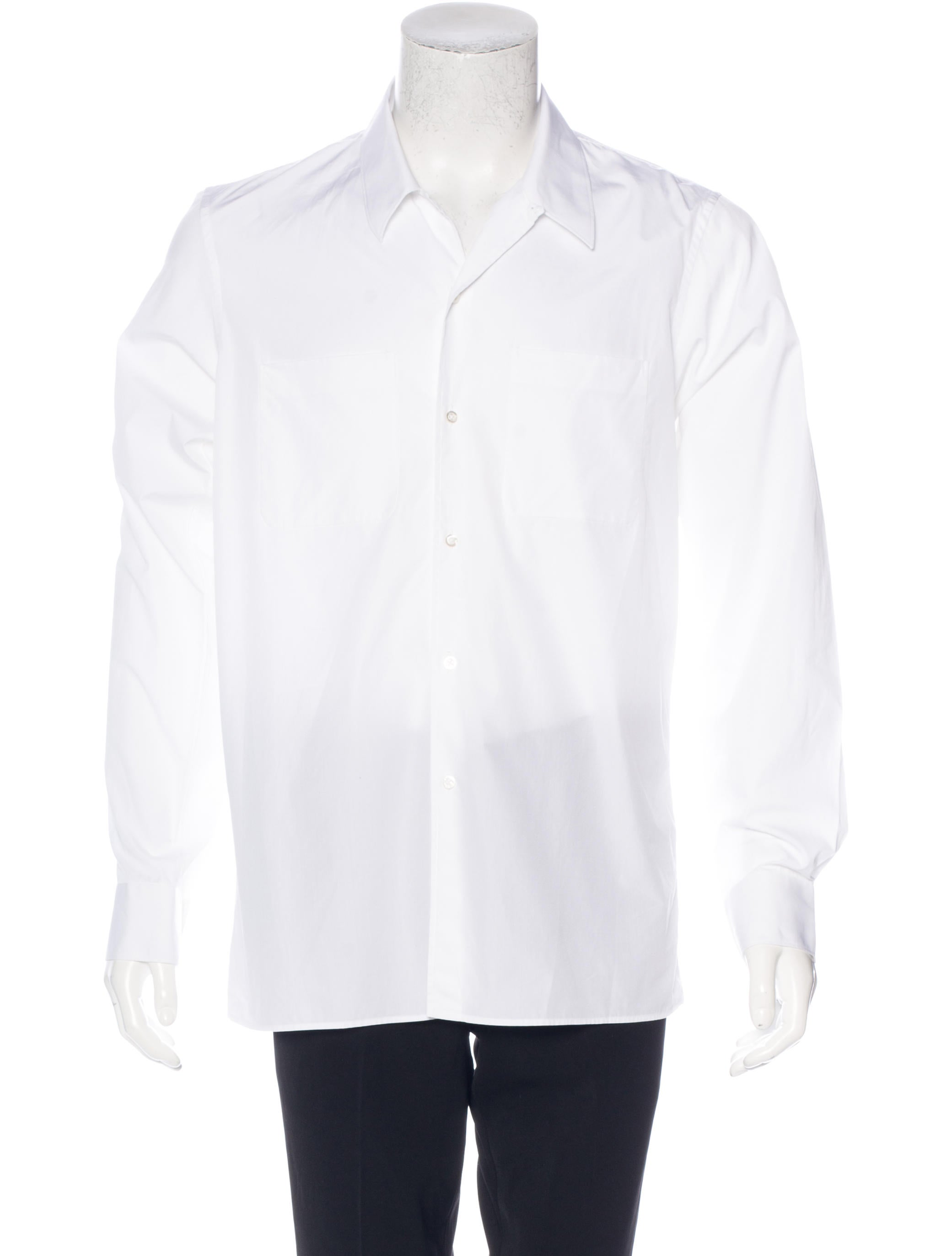 Jil sander woven button up shirt clothing jil37176 for Jil sander mens shirt