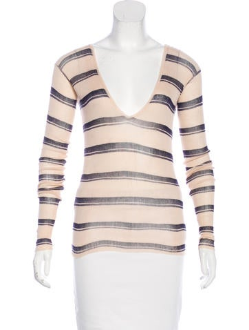 Jil Sander Striped Long Sleeve Top None