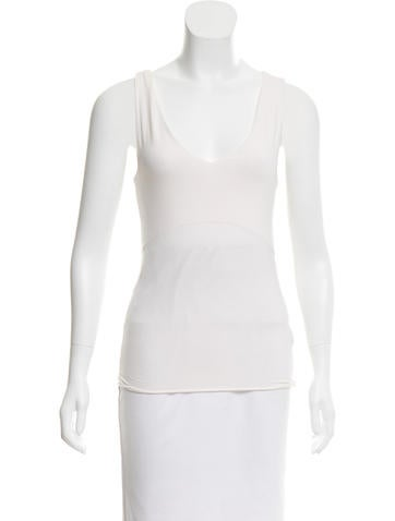 Jil Sander Fitted Sleeveless Top None