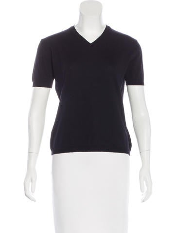 Jil Sander Wool Short Sleeve Top None