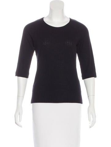 Jil Sander Wool Three-Quarter Sleeve Top None
