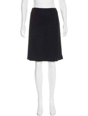 Jil Sander Cashmere Knee-Length Skirt None