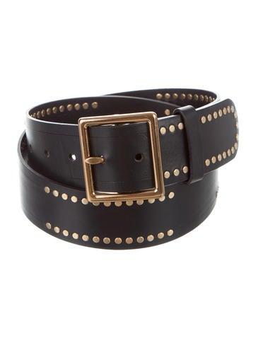 jil sander studded leather belt accessories jil37629