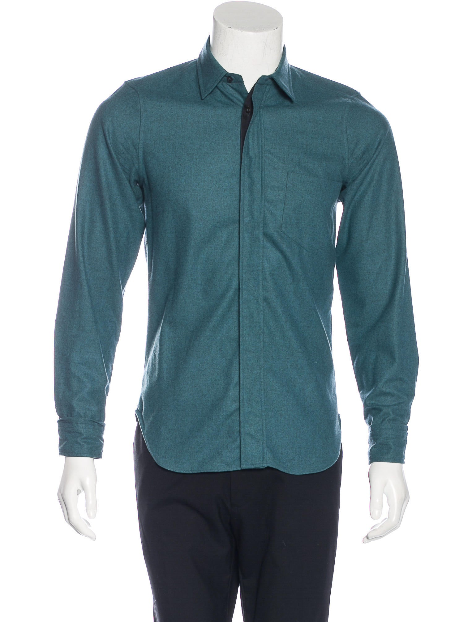 Jil sander virgin wool shirt clothing jil37799 the for Jil sander mens shirt