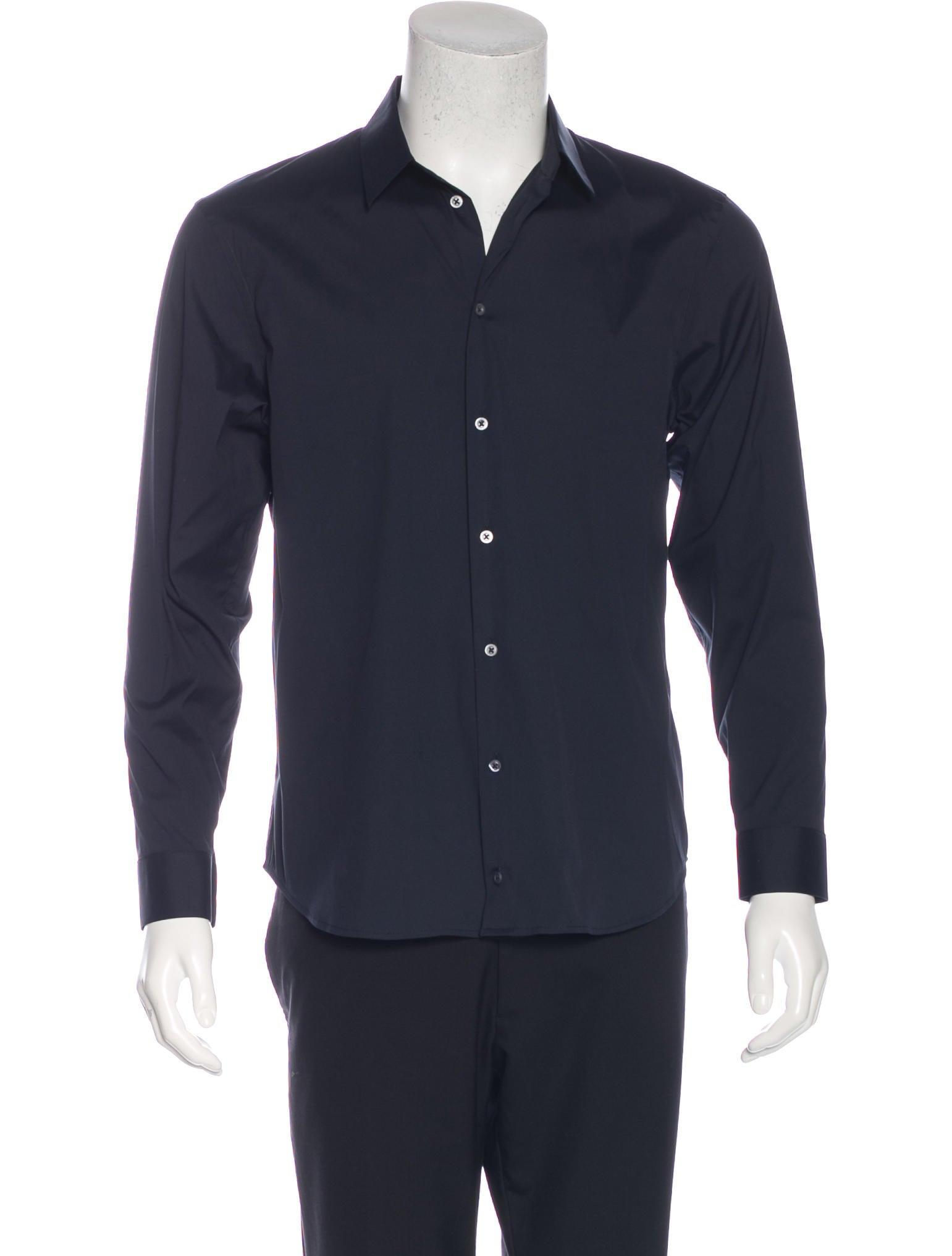 Jil sander woven dress shirt clothing jil37877 the for Jil sander mens shirt
