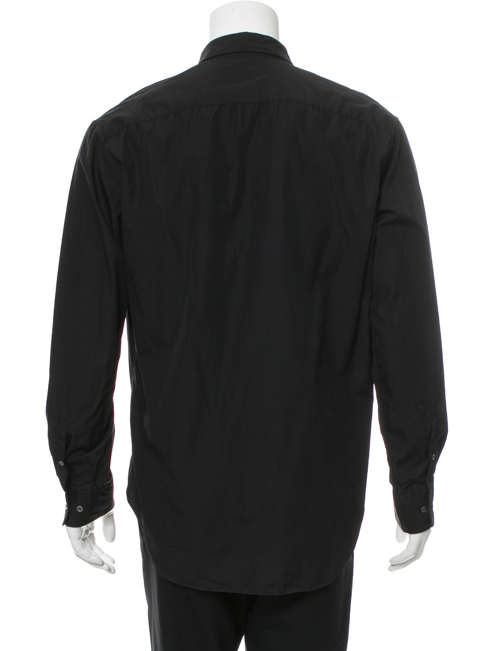 Jil sander woven button up shirt clothing jil37976 for Jil sander mens shirt