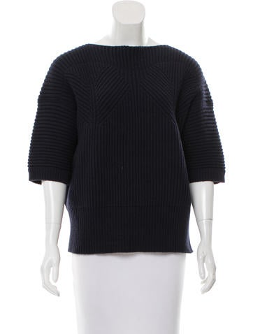 Jil Sander Knit Short-Sleeve Top None