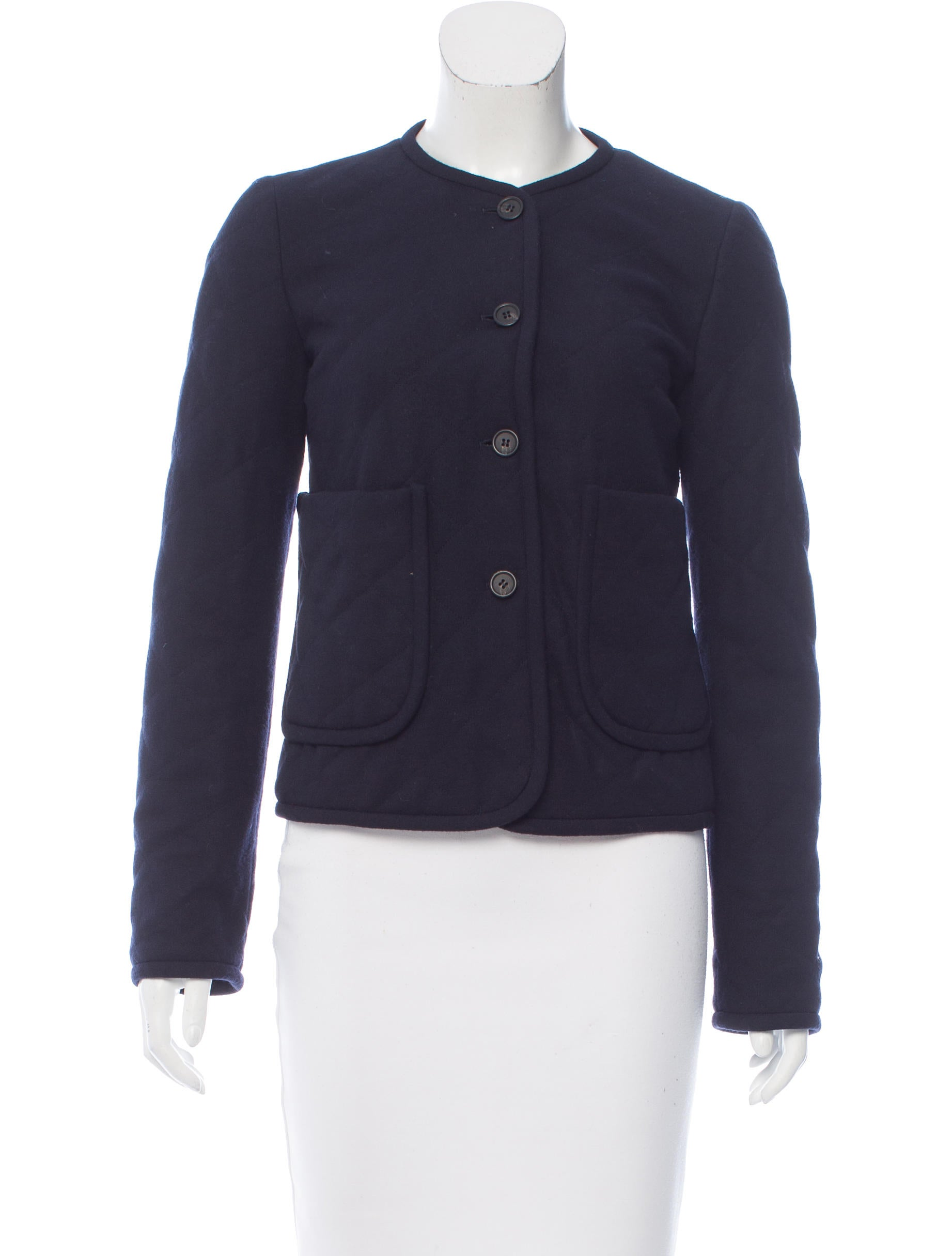 Jil Sander Quilted Wool Jacket Clothing Jil38175 The