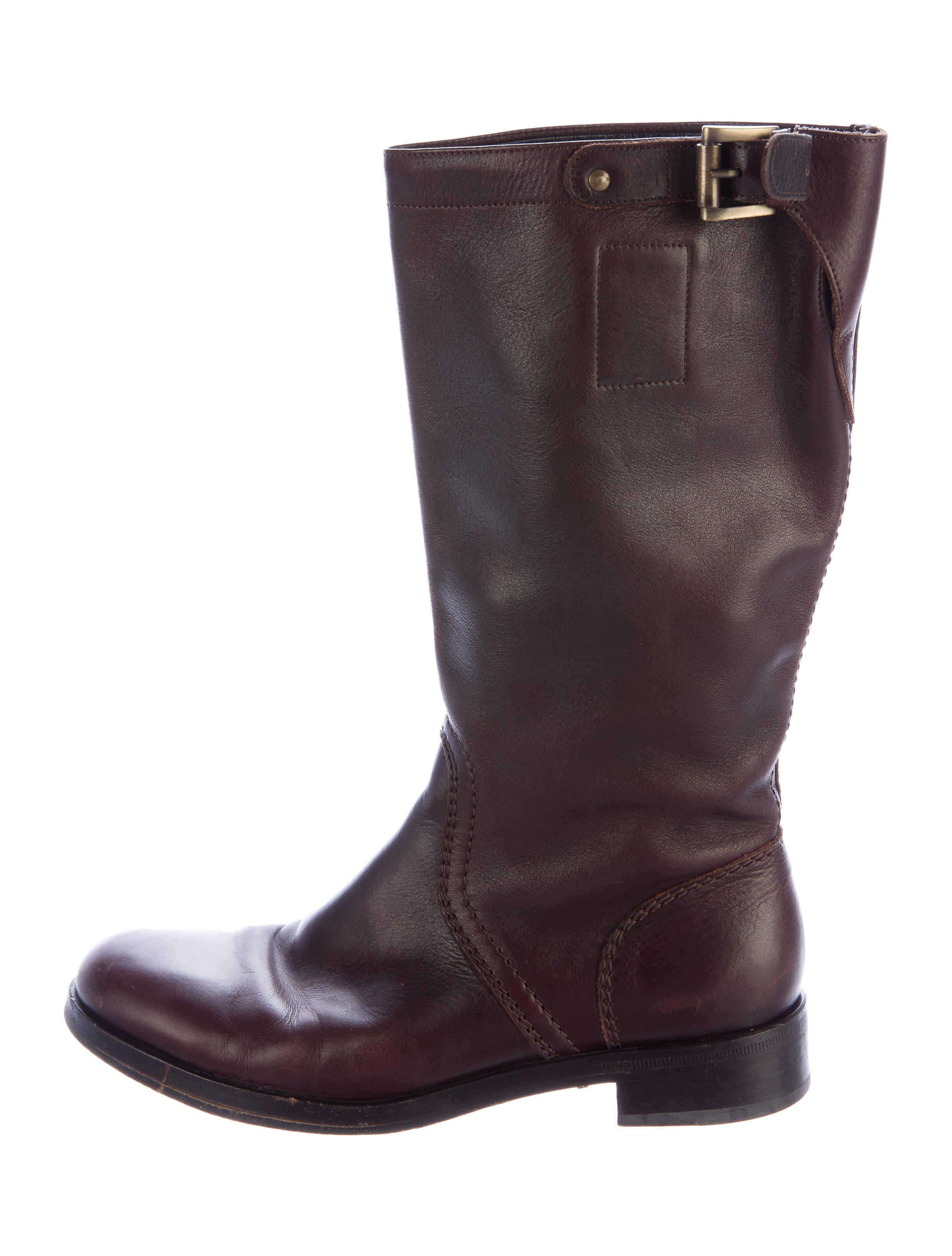 jil sander leather mid calf boots shoes jil38225 the