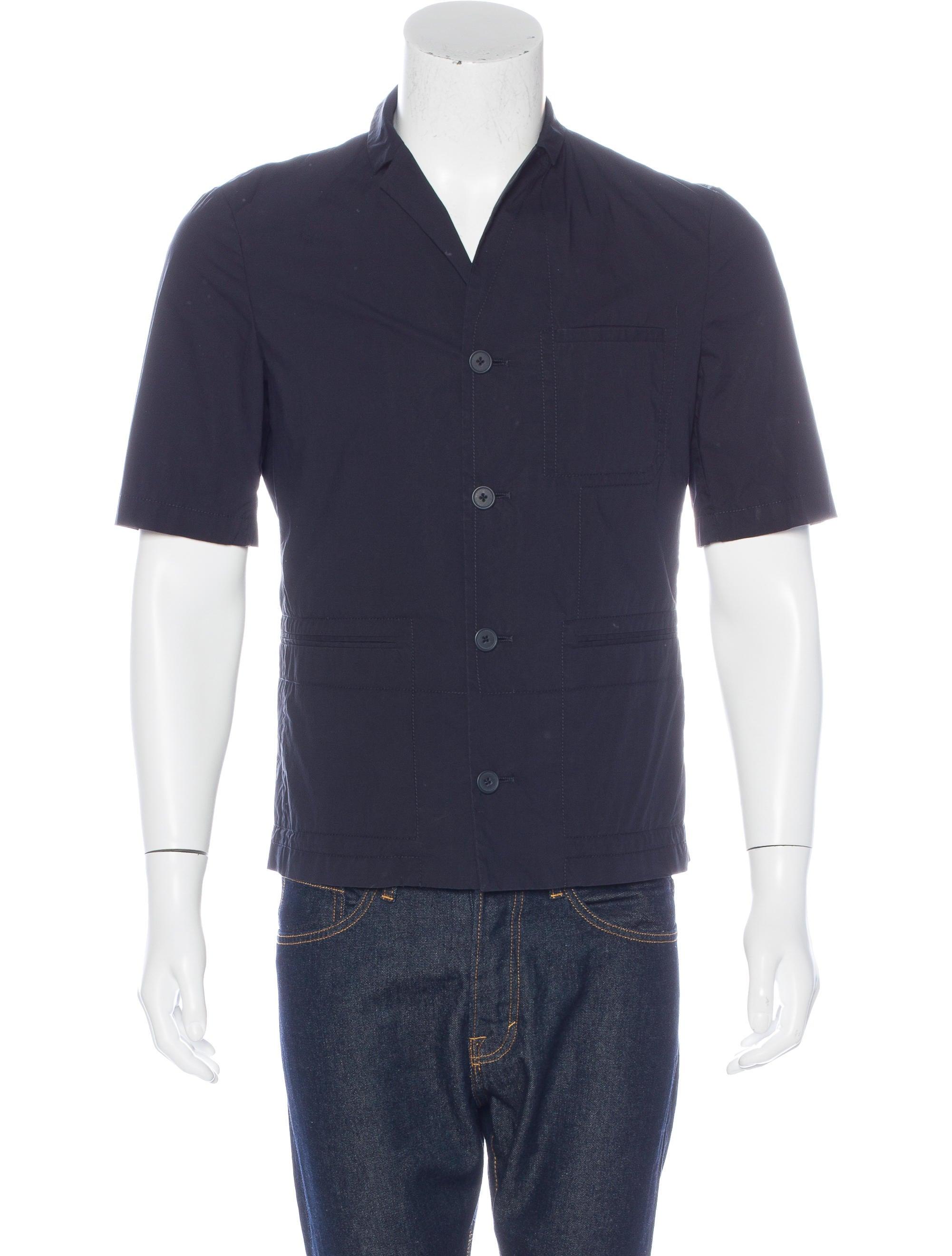 Jil sander short sleeve shirt jacket clothing jil38250 for Jil sander mens shirt