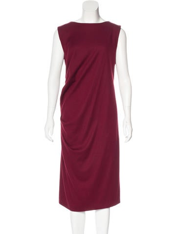 Jil Sander Sleeveless Ruched Dress None