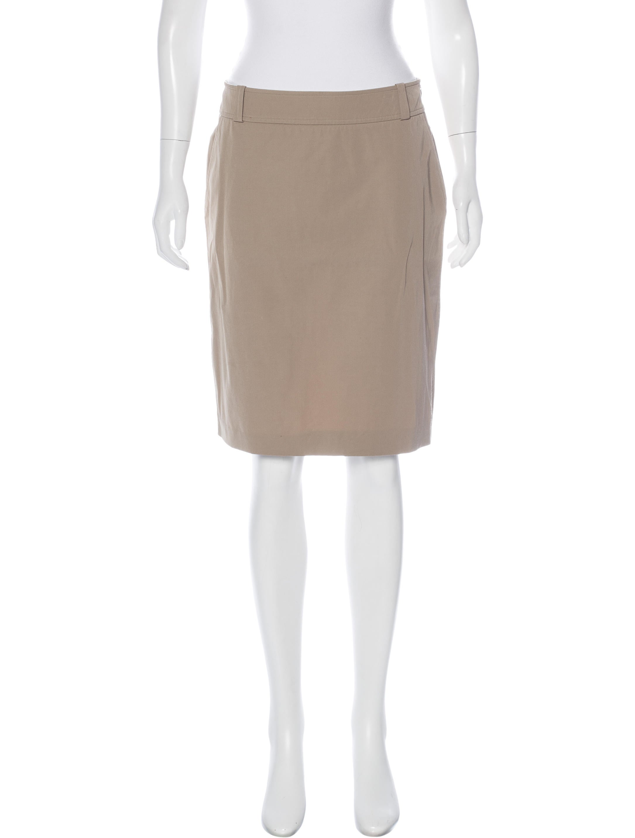 jil sander knee length pencil skirt clothing jil38411