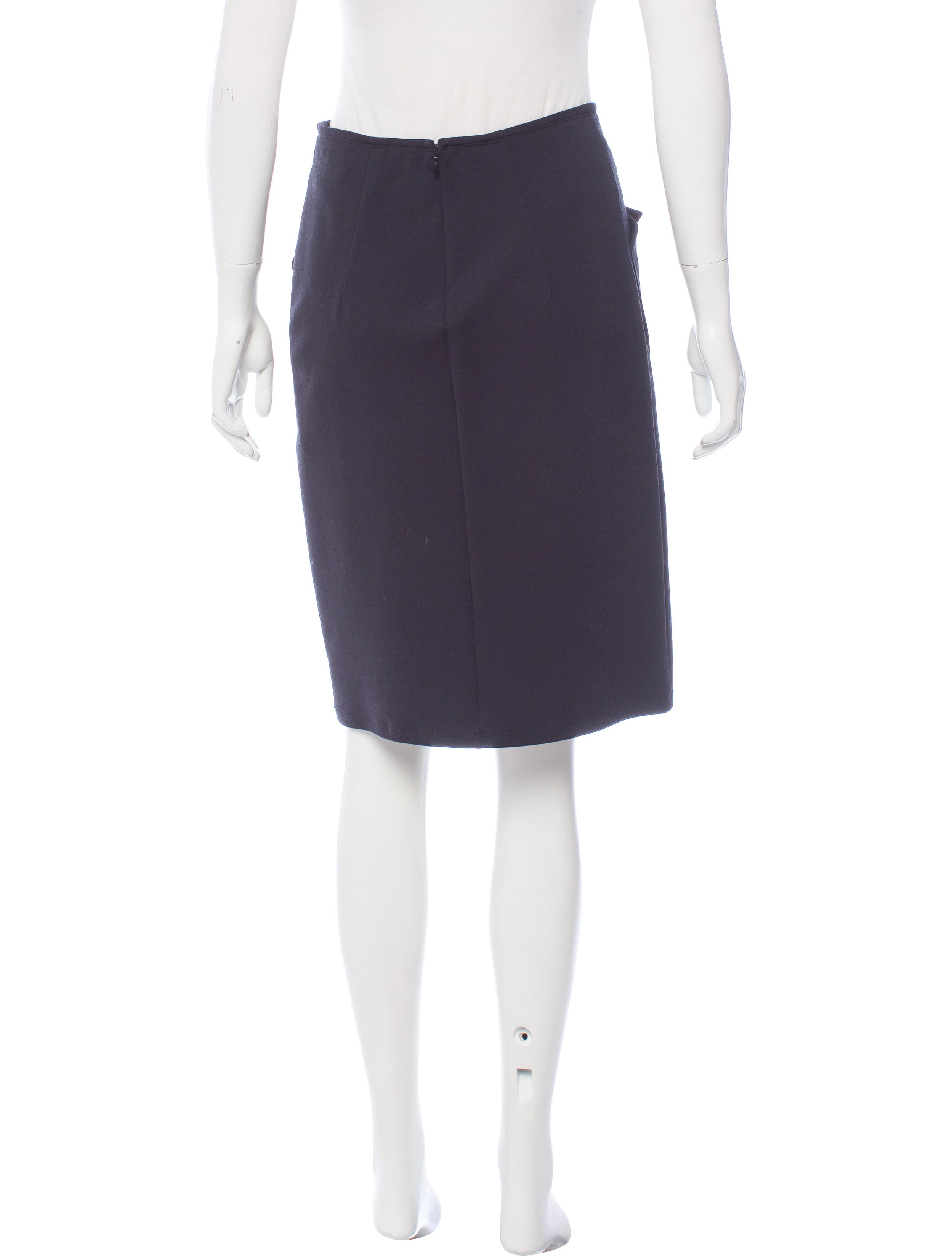Jil Sander Knee-Length Zip-Up Skirt - Clothing - JIL38516 | The RealReal