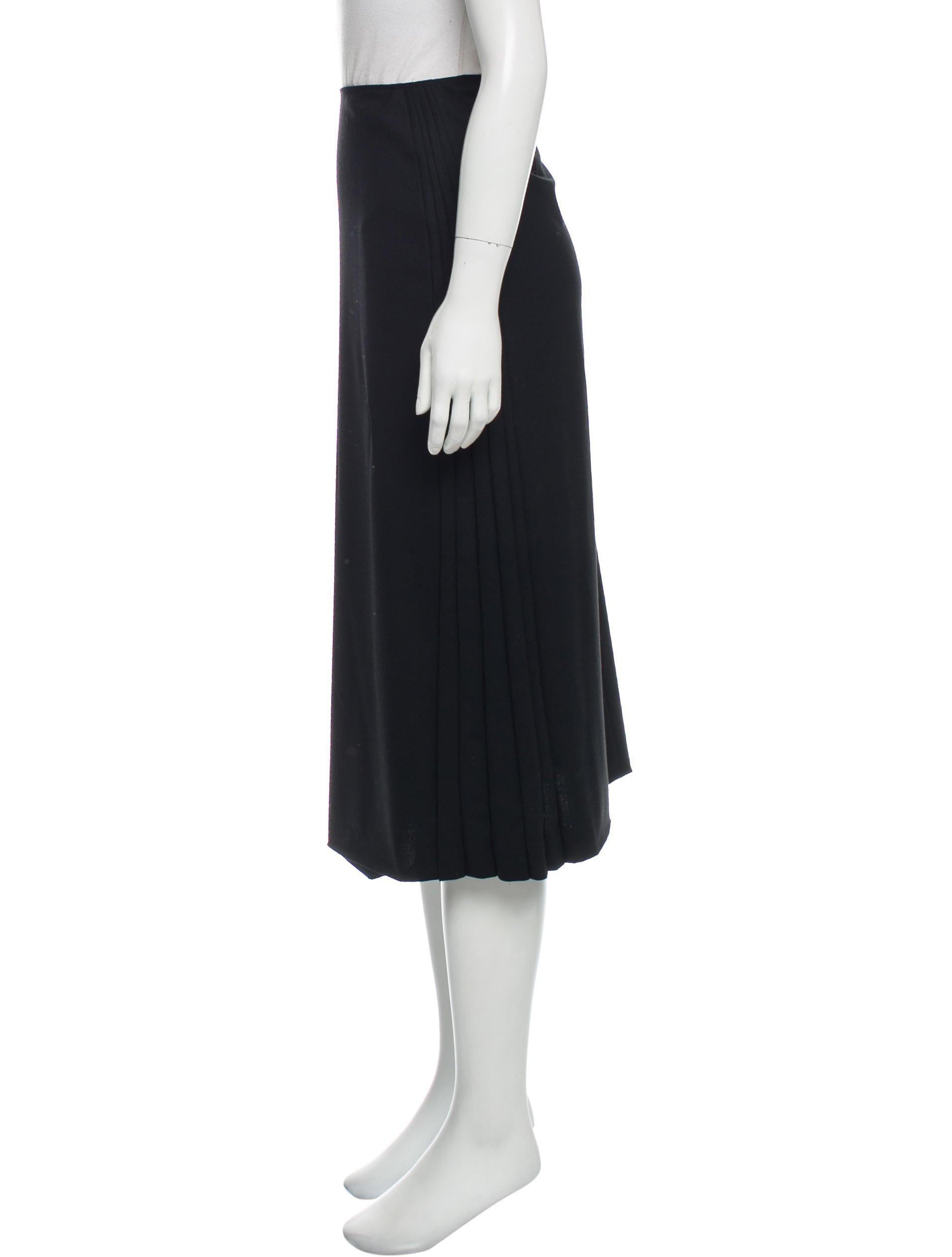 jil sander wool midi skirt clothing jil38518 the