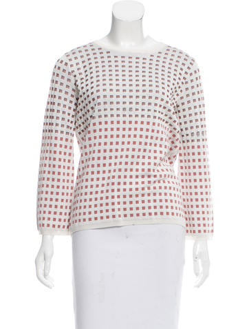 Jil Sander Patterned Silk Sweater None