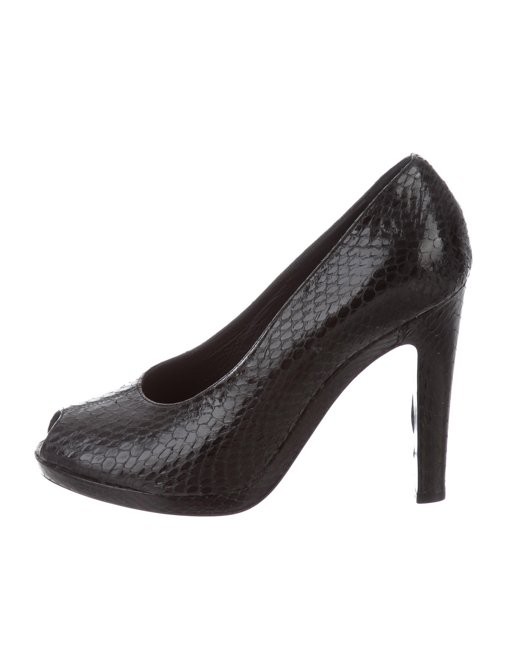 big discount cheap price clearance store online Jil Sander Python Peep-Toe Pumps Inexpensive online clearance reliable HEe2xP