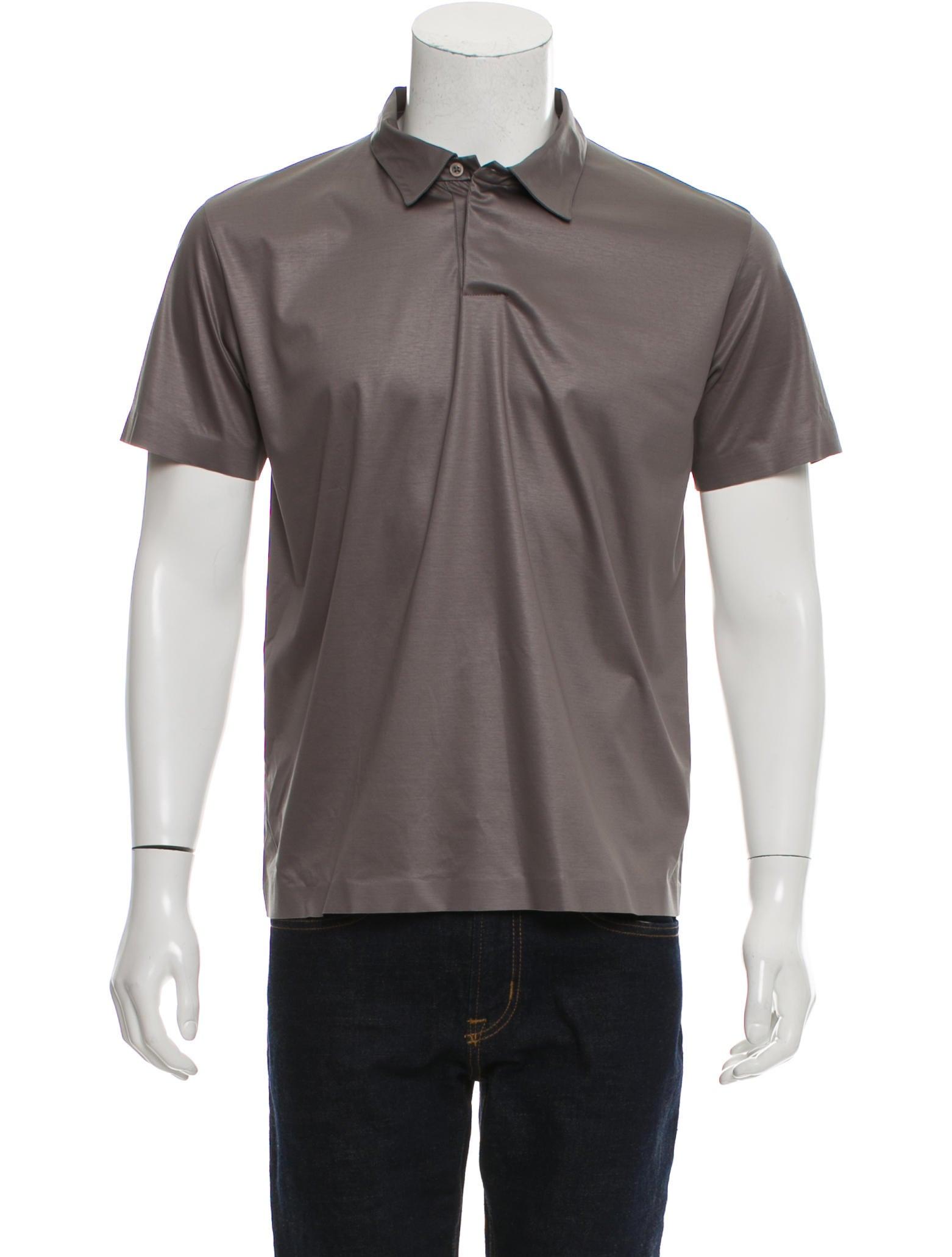 Jil sander satin polo shirt w tags clothing jil38740 for Jil sander mens shirt