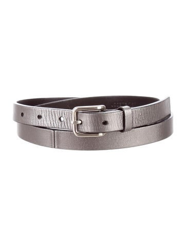 jil sander metallic leather belt accessories jil38759