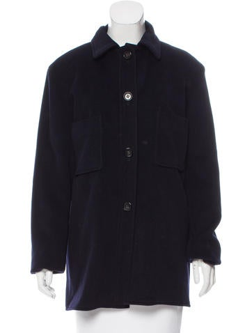 Jil Sander Cashmere Button-Up Jacket None