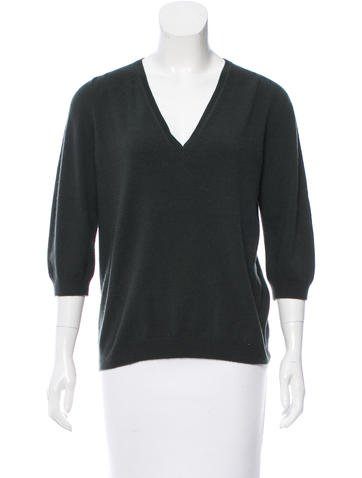 Jil Sander Short Sleeve Cashmere Sweater None