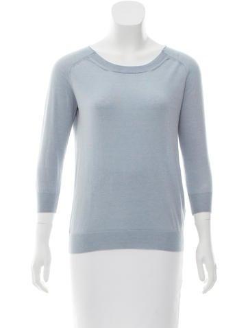 Jil Sander Rib Knit Long Sleeve Sweater None