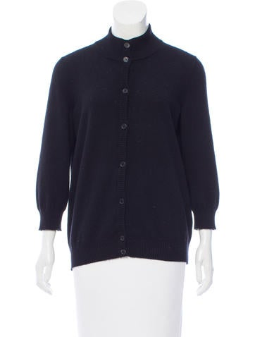 Jil Sander Cashmere Button-Up Cardigan None