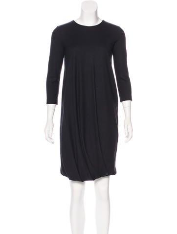 Jil Sander Wool Mini Dress None