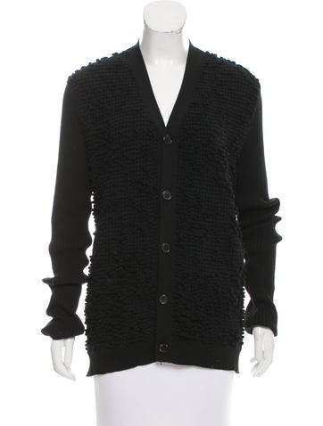 Jil Sander Textured Rib Knit Cardigan None