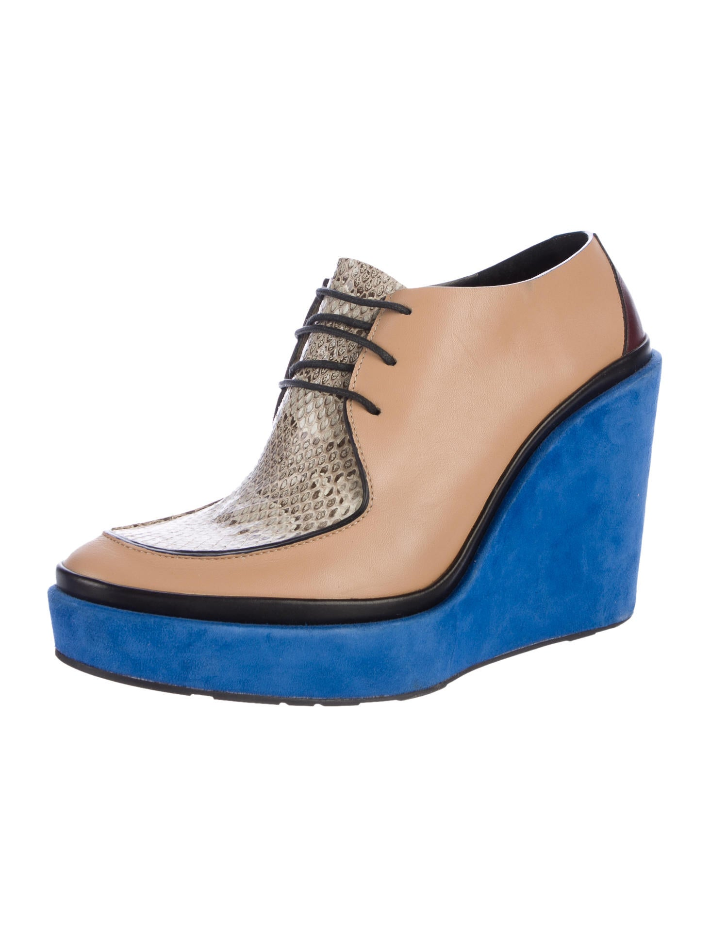 Jil Sander Snakeskin-Trimmed Wedge Booties cheap best discount fast delivery from china low shipping fee for sale wholesale price big discount cheap online Y2QAKi9dhr