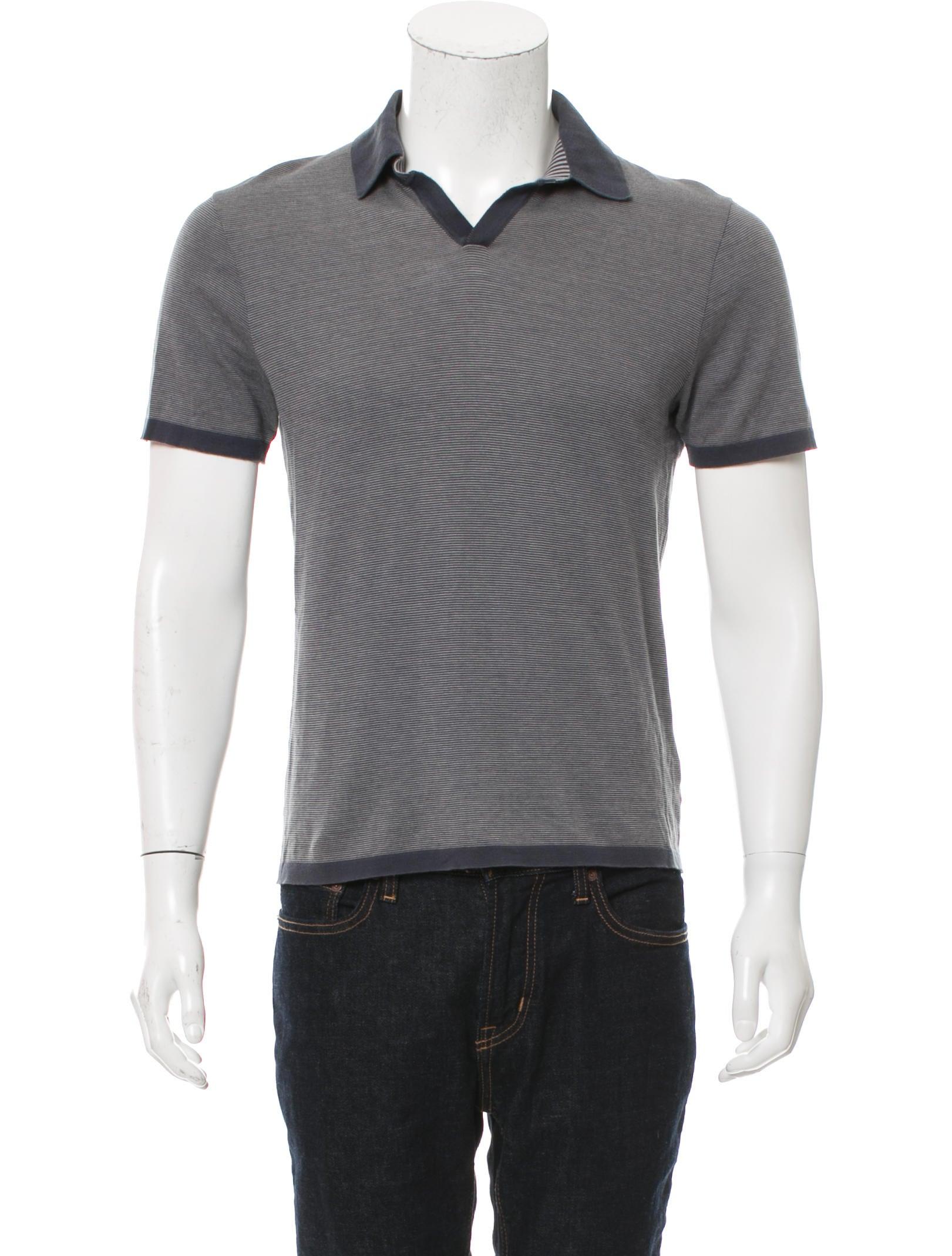 Jil sander striped polo shirt clothing jil39591 the for Jil sander mens shirt