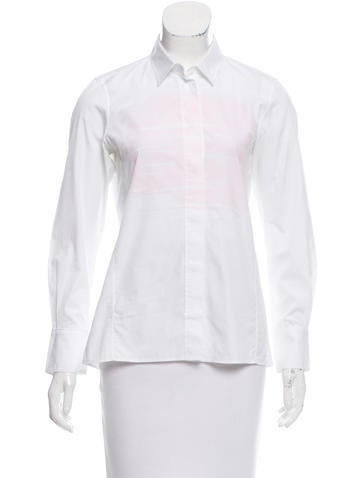 Jil Sander Poplin Button-Up Top None