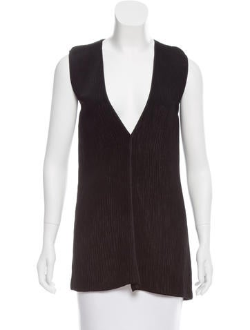 Jil Sander Sleeveless Rib Knit Top None
