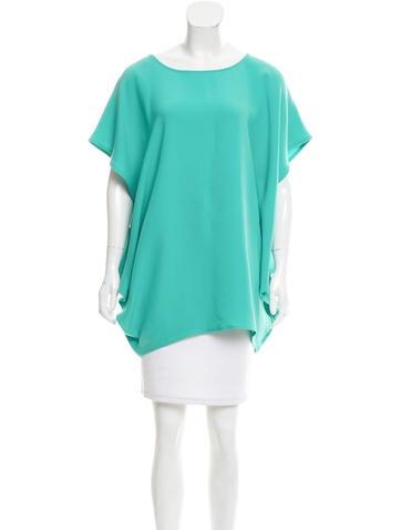 Jil Sander Silk Short Sleeve Top None
