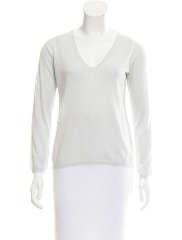 Jil Sander V-Neck Long Sleeve Sweater None