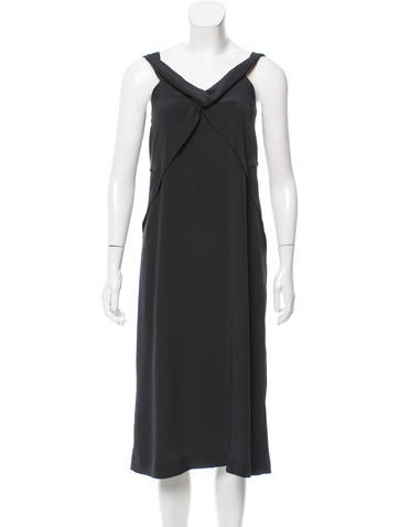 Jil Sander Sleeveless Midi Dress None