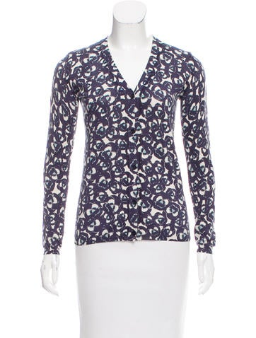 Jil Sander Print V-Neck Cardigan None