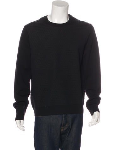 Jil Sander Quilted Wool Crew Neck None