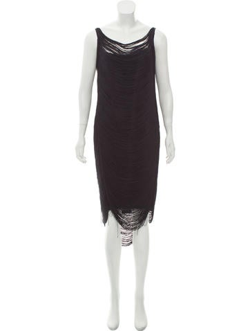 Jil Sander Sleeveless Fringe Dress None