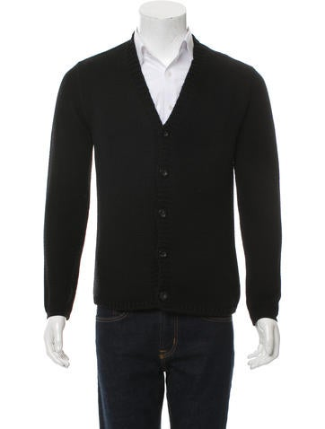 Jil Sander Wool Rib Knit Cardigan None