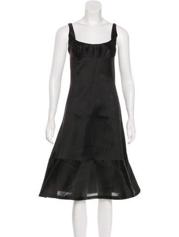 Jil Sander Sleeveless Silk Dress None