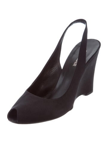 Jil Sander Satin Slingback Wedges clearance from china outlet buy buy cheap 100% guaranteed WdAzNk