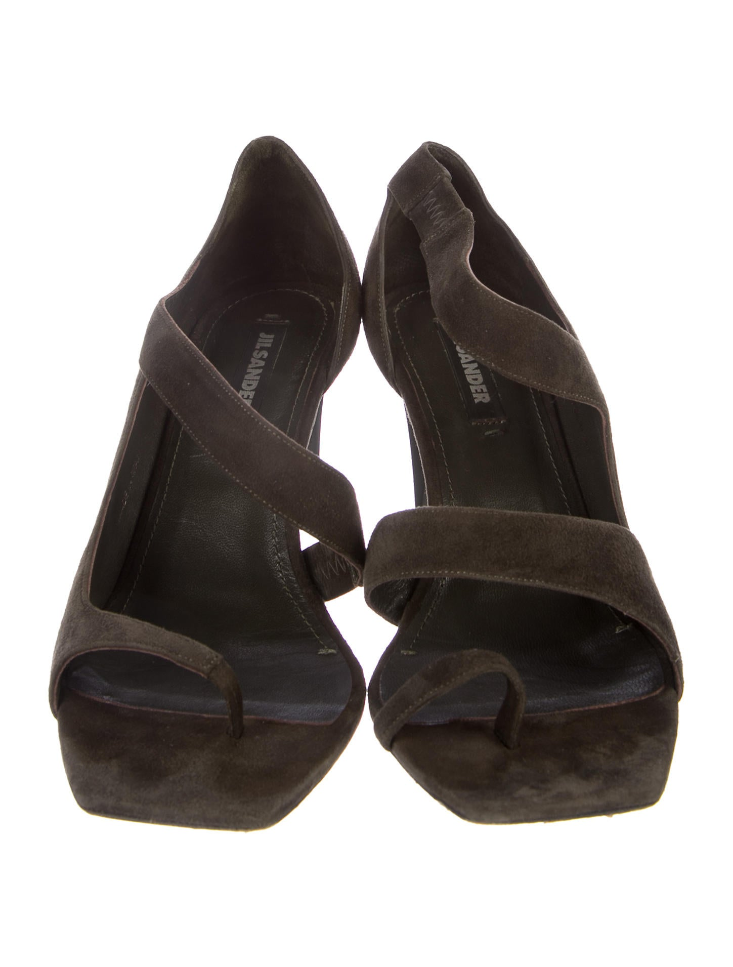 100% guaranteed cheap price Jil Sander Suede Square-Toe Sandals online cheap quality Njvc6R