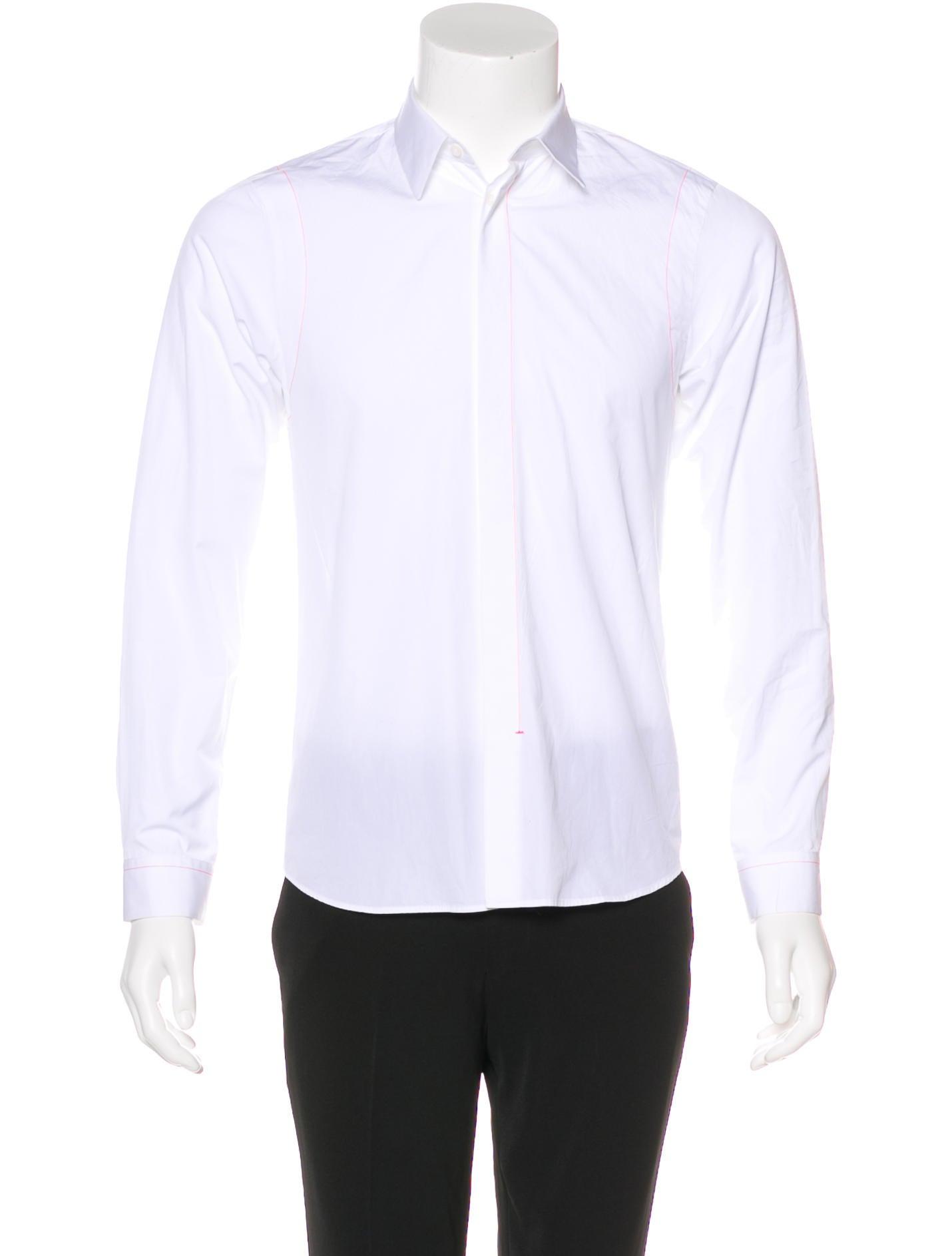 Jil sander contrast button up shirt clothing jil40290 for Jil sander mens shirt