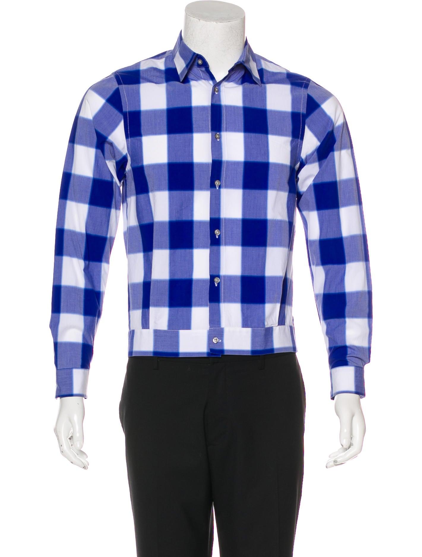 Jil sander checked button up shirt clothing jil40349 for Jil sander mens shirt