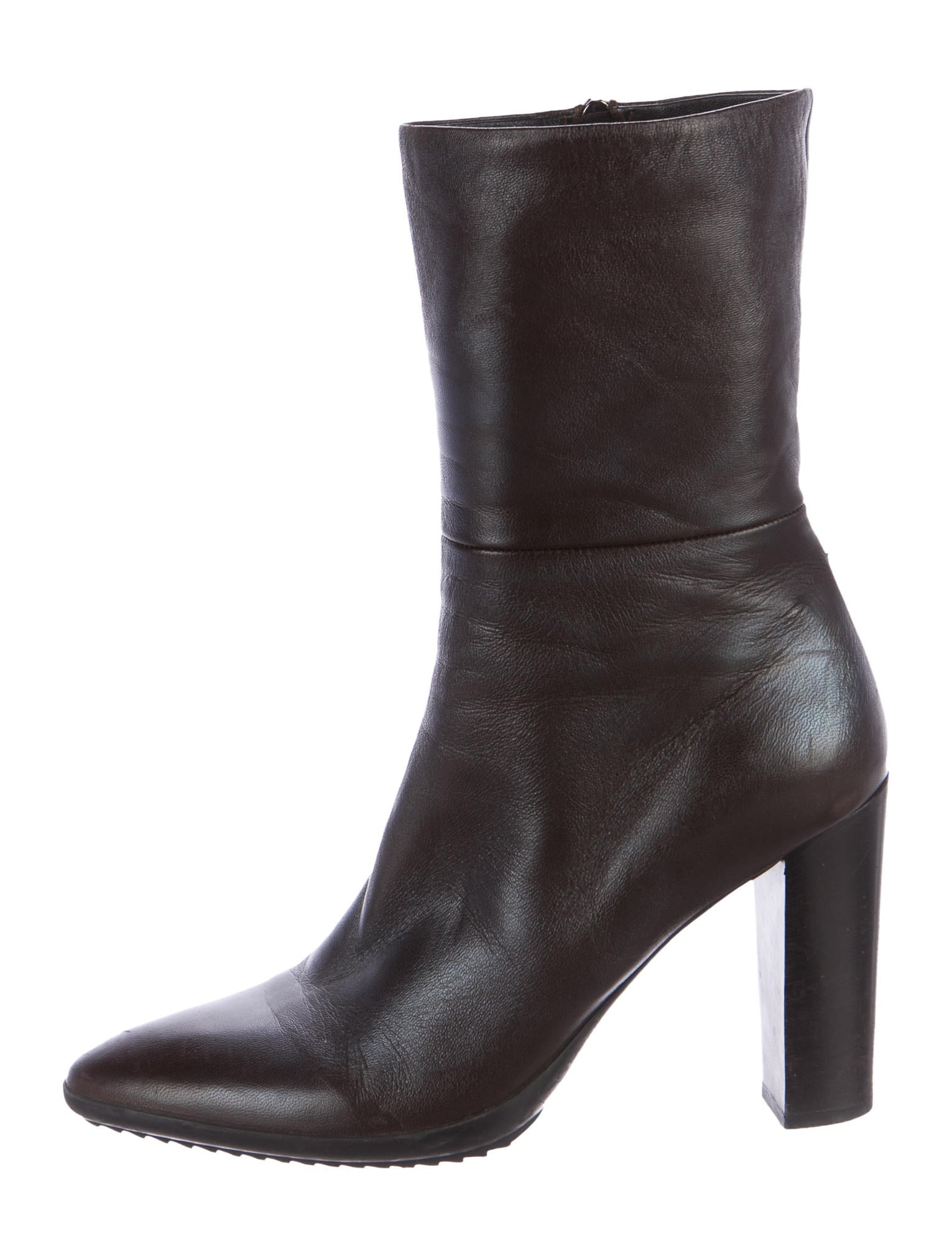 Jil Sander Semi-Pointed Leather Ankle Boots outlet with paypal find great cheap online ntH80