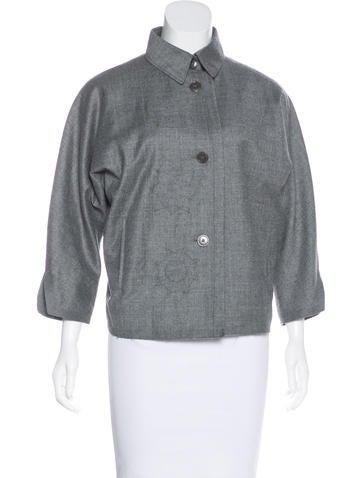 Jil Sander Wool Three-Quarter Sleeve Jacket None