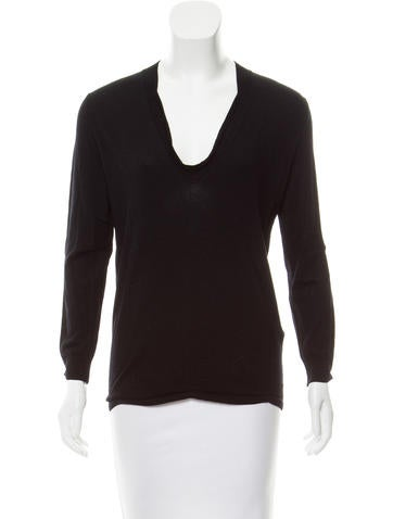 Jil Sander Wool Scoop Neck Top None