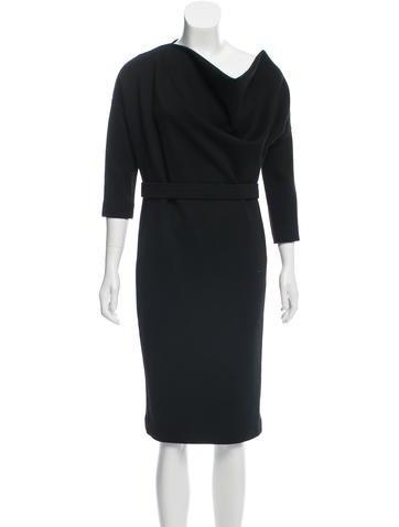 Jil Sander Wool Knee-Length Dress None