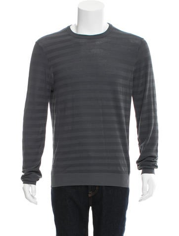 Jil Sander Striped Crew Neck Sweater None