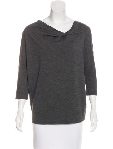 Jil Sander Wool Ruched Sweater None
